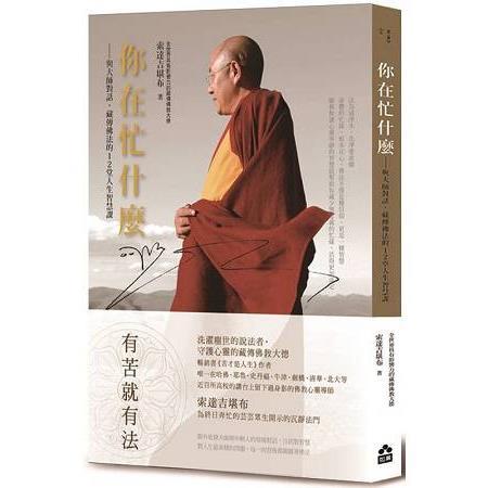 你在忙什麼?與大師對話,藏傳佛法的12堂人生智慧課