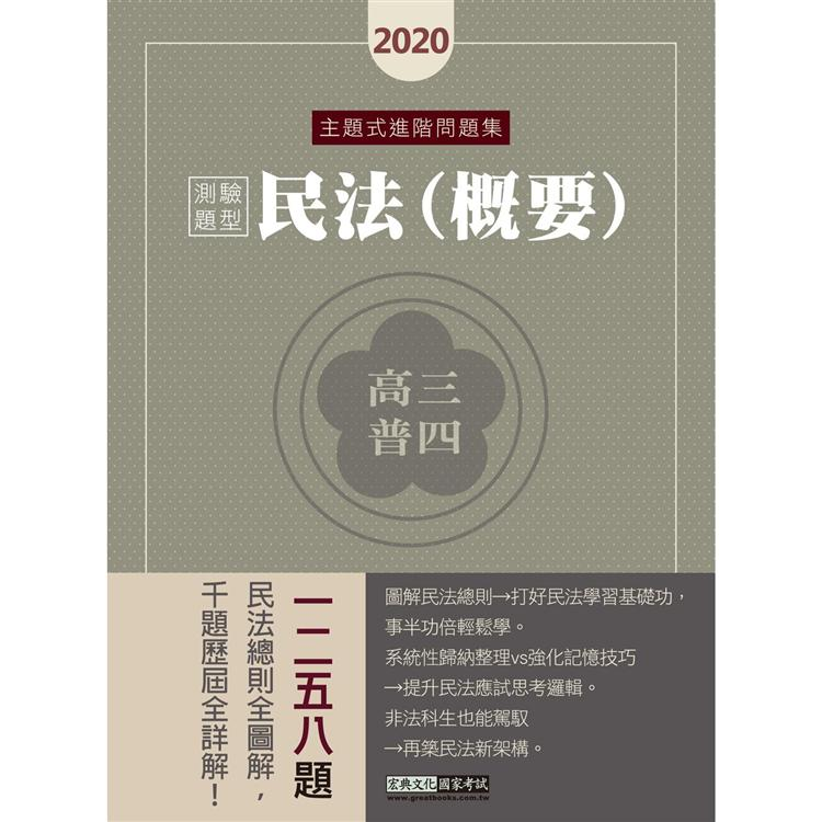 【民事法精解】高普考/三四等特考適用:民法(測驗題型) 主題式進階問題集