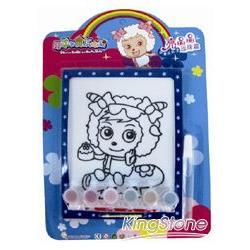 喜羊羊亮晶晶珍珠畫  (1塊繪圖板、1座畫框、1瓶黏膠、6色珍珠顆粒)