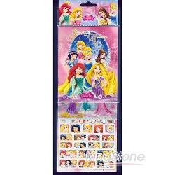 迪士尼公主三層貼紙組