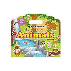 My Sticker Book ~Animals^(手提貼紙書~~動物 英文版^)