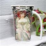 經典女神-慕夏藝術曲線杯