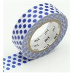 日本MT和紙膠帶DECO-水玉點點(深藍)