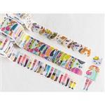 日本進口 bande 和紙貼紙 動物女子 系列 - 貓咪派對三卷組 ( BDA 214 )