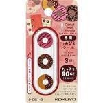 KOKUYO 甜甜圈打孔加強章補充包-巧克力草莓多拿滋