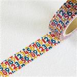 ROUND-TOP 和紙膠帶-數字
