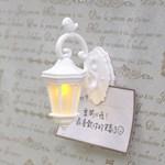 微生物-迷你壁燈磁鐵夾-鳥(清新白)