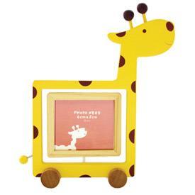 Q版木相框-長頸鹿