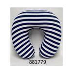 慢回彈U型頸枕/藍白線條