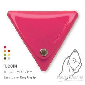 【ALIFE】T. Coin三角造型零錢包-玫瑰紅
