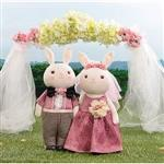Metoo38cm提拉米兔男女婚紗組-紫醉金迷