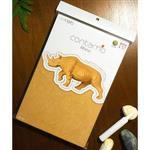 Contamo DIY瓦楞模型 野生動物系列-犀牛(L)