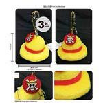 航海王-3吋魯夫帽吊飾鑰匙釦
