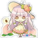 12生肖獸娘 X 台灣水果- 羊【桃子】壓克力鑰匙圈