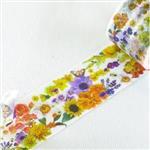 YANO Design紙膠帶Flower Series LINE - Orange & Yellow