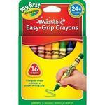 Crayola繪兒樂 幼兒可水洗三角蠟筆16色