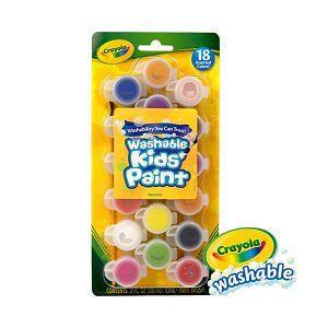 Crayola繪兒樂 可水洗兒童顏料18色