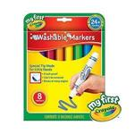 Crayola繪兒樂 幼兒可水洗彩色筆8色