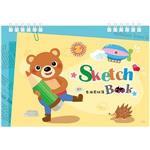 8K雙線圈剪貼簿-筆熊