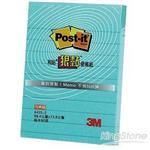 【3M】草藍色橫格狠粘便條紙(643S-3-3X4)