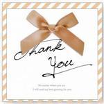 簡單生活--緞帶蝴蝶結(感謝)卡片