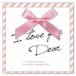 簡單生活--緞帶蝴蝶結(Love)卡片
