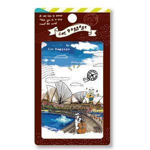 貓行李--悠遊(雪梨歌劇院)果凍裝飾卡貼