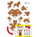 立體小熊模型-褐布