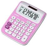 CASIO迷你款桌上型彩色計算機-粉紅色