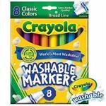 Crayola繪兒樂 可水洗粗頭彩色筆經典色8色