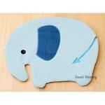 藍大象防滑絨毛腳踏墊小地毯