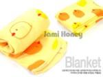韓國熱銷!寶貝黃色小雞圖案懶人毯/午睡小毛毯/冷氣毯