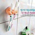 腳趾頭造型吸盤牙刷架夾