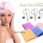 超快乾極細纖維吸水乾髮浴帽(隨機)