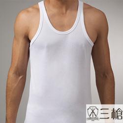 【三槍牌】時尚精典金絲棉型男窄肩背心~1件組(M)