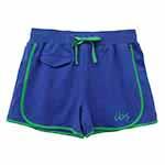 【IBS】素面配條棉質運動短褲(女款)