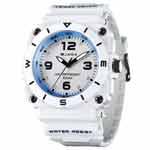 JAGA 捷卡 AQ934-D 運動休閒風指針錶-白/52mm