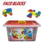 《17TOY》FACO BLOCKS快樂堆高120pcs積木組(含扣整理箱)