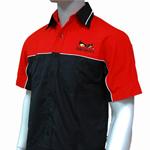 《北歐設計》天魔工作服/紅黑色大尺碼挺拔工作衫