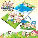 【喜羊羊】郊遊篇幼教兒童睡袋-粉藍(4X5尺)