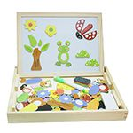 兒童兩用磁性積木畫板(彩虹森林)