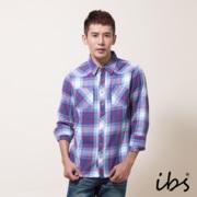 ibs 法蘭絨格紋襯衫(男/紅藍格)