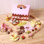 巧克力餅乾下午茶木製玩具家家酒手提組(木製蛋糕點心)