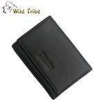 【Wild Tribe】摺疊式 真皮皮夾(157黑)