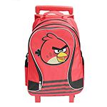 【Angry Birds】憤怒鳥三段式不可拆拉桿後背書包(紅)