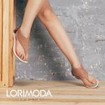 【LORIMODA】義大利手工皮革壓格紋夾腳後帶後包平跟涼鞋真皮防滑底TURIN.10 (咖啡/棕)