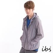 ibs抗UV可收納輕量防風外套(男/深灰)