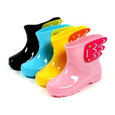 日韓版可愛天使兒童必備雨鞋 (豔麗黃)