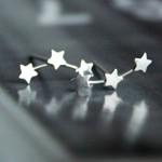三連星.銀飾耳環