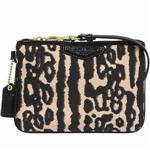COACH 豹紋設計織布手拿包